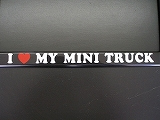 I LOVE MY MINI TRUCK デカール
